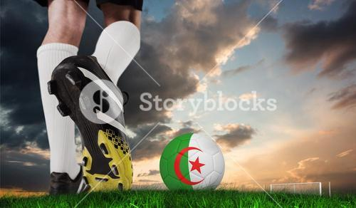 Composite image of close up of football boots