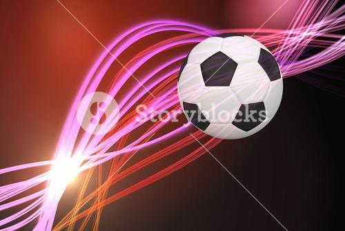 Composite image of black and white football