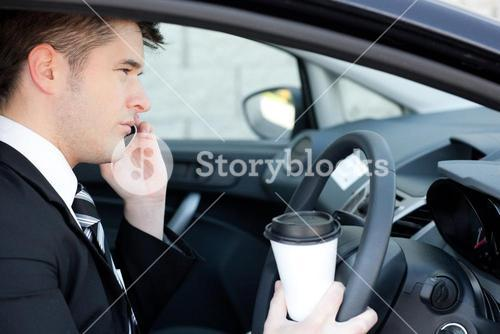 Charismatic businessman talking on the phone