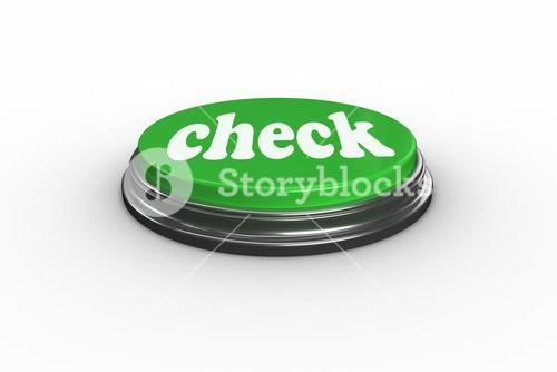 Check on digitally generated green push button