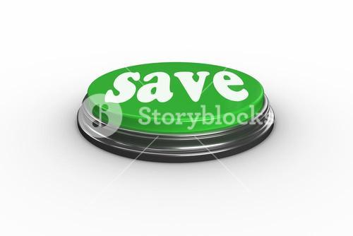 Save on digitally generated green push button