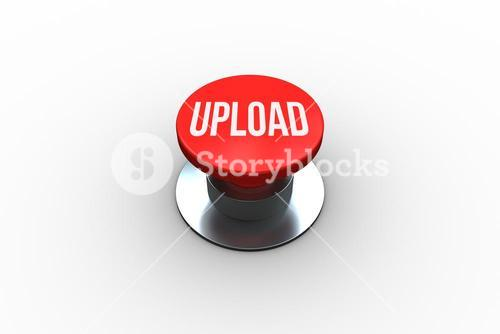 Upload on digitally generated red push button