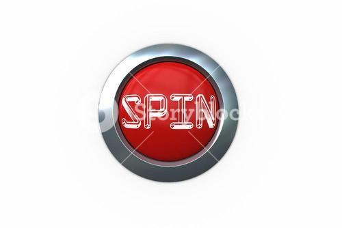 Spin on digitally generated red push button