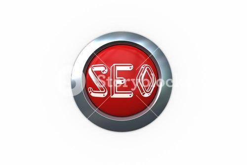 Seo on digitally generated red push button