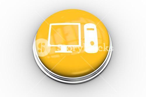 Composite image of computer graphic on button
