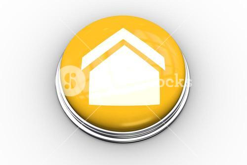 Composite image of house graphic on button