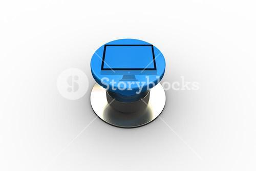 Composite image of computer screen graphic on button