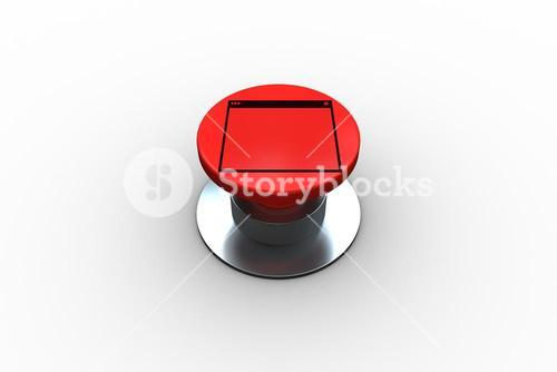 Composite image of computer window graphic on button