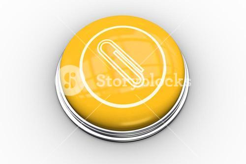 Paperclip graphic on yellow push button