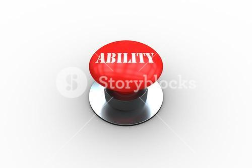 Ability on digitally generated red push button