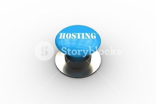 Hosting on blue push button