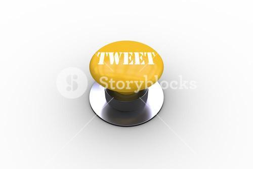 Tweet on yellow push button