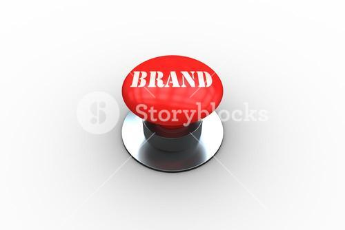 Brand on digitally generated red push button