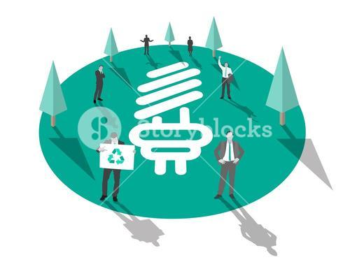 Business people for environmental conservation vector