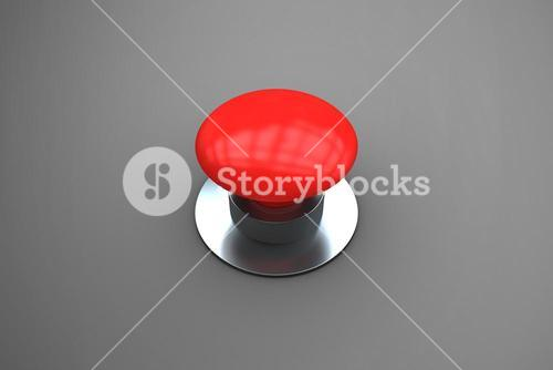 Composite image of digitally generated red push button