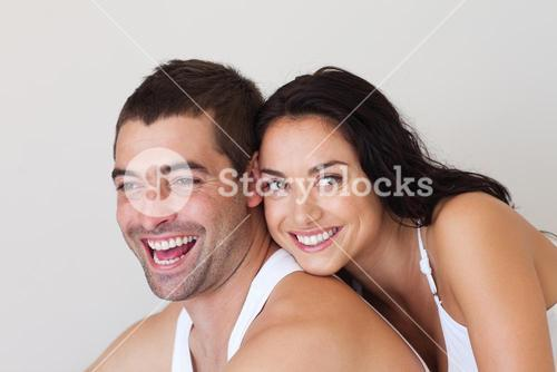 Cheerful man with woman