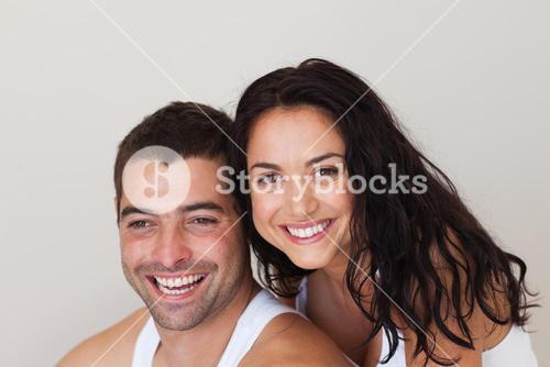 Young loving couple relaxing