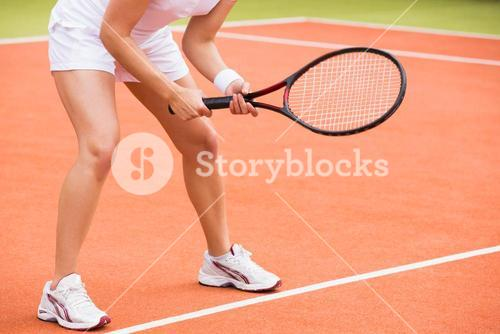 Tennis player ready to play