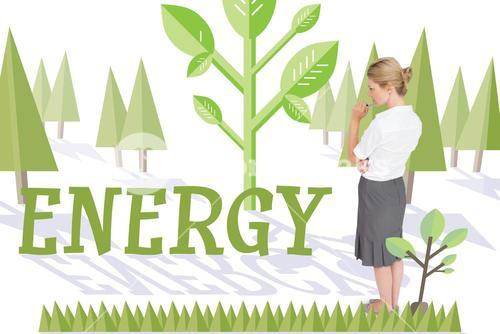 Energy against forest with trees