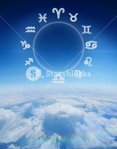 Composite image of zodiac chart