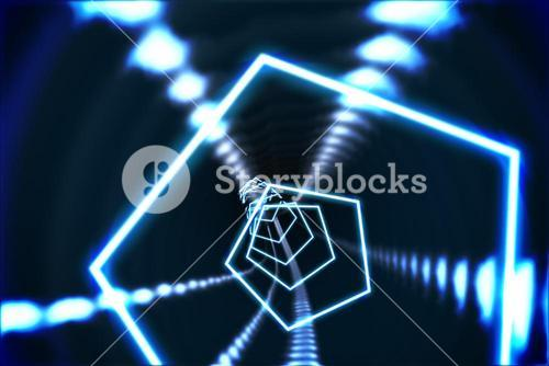 Hexagon design with glowing light