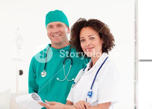 Portrait of doctor and surgeon together