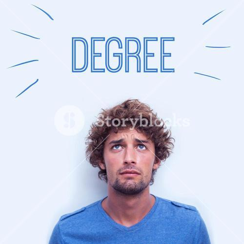 Degree against anxious student
