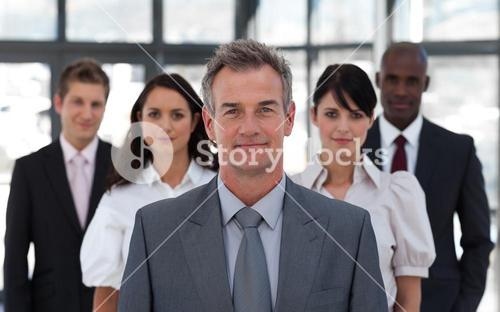 Portrait of a confident business team looking at the camera