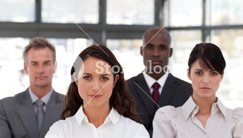 Portrait of confident business people looking at the camera