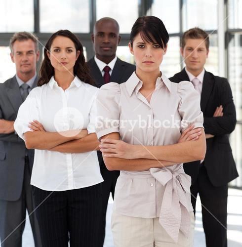 Portrait of selfassured business people looking at the camera