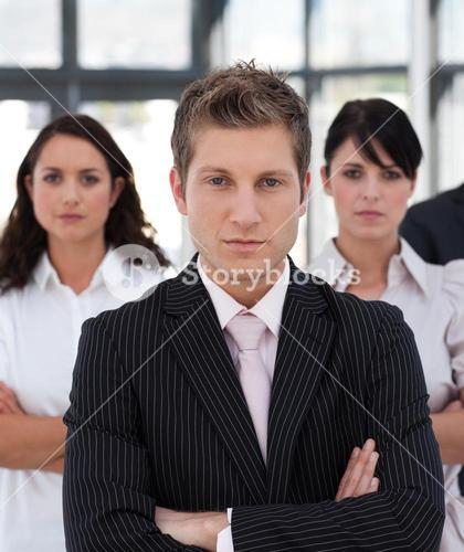 Portrait of a professional business team looking at the camera