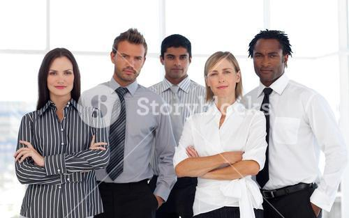 Portrait of a confident group of business people looking at the camera