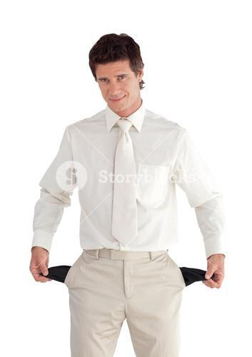 Welldressed cute businessman looking at the camera