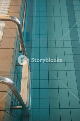Empty swimming pool with tiles