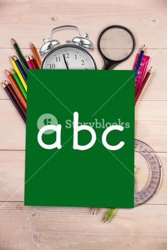 Composite image of abc letters
