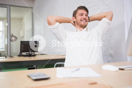Thoughtful businessman at office