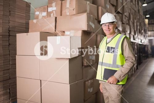 Portrait of manual worker in warehouse