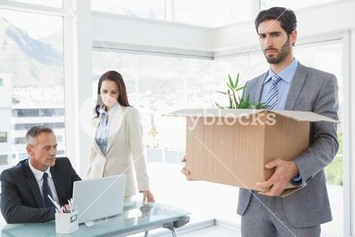 Unhappy employee being let go