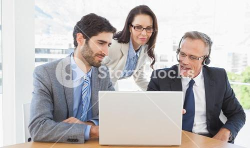 Business team in a conference call