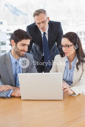 Business people in a conference call