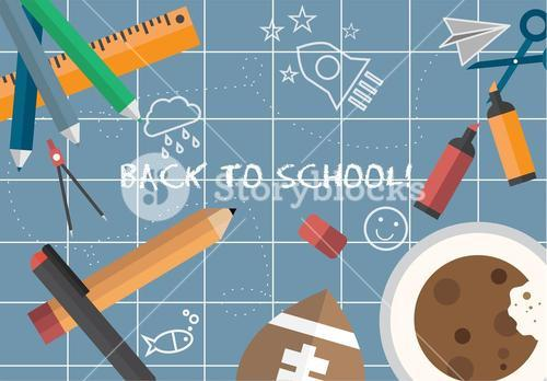 Back to school message vector