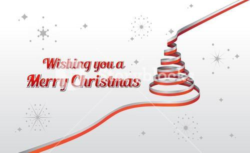 Christmas greeting message with illustrations