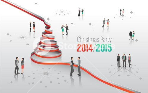 Christmas party message with graphics