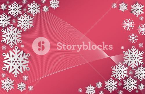 Snowflake frame with copy space