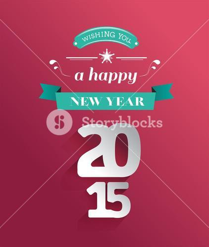 Happy holidays 2015 message vector