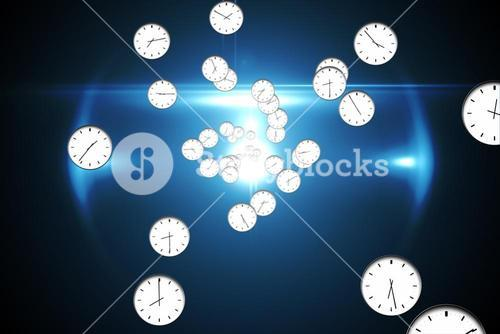 Digitally generated floating clock pattern