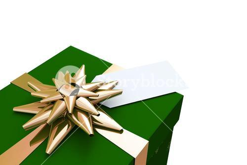 Green and gold christmas gift