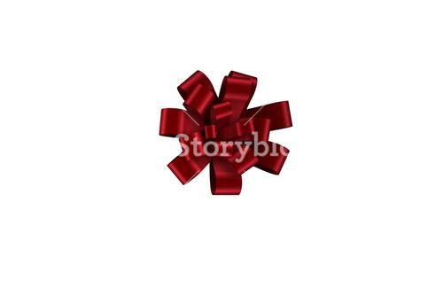 Red christmas bow for gift