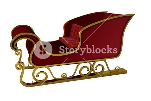 Red and gold santa sleigh