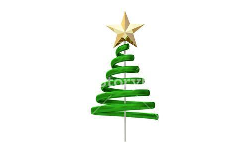 Green christmas tree spiral design